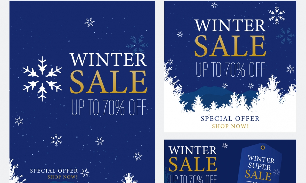 Winter Advertising Leaflet Template