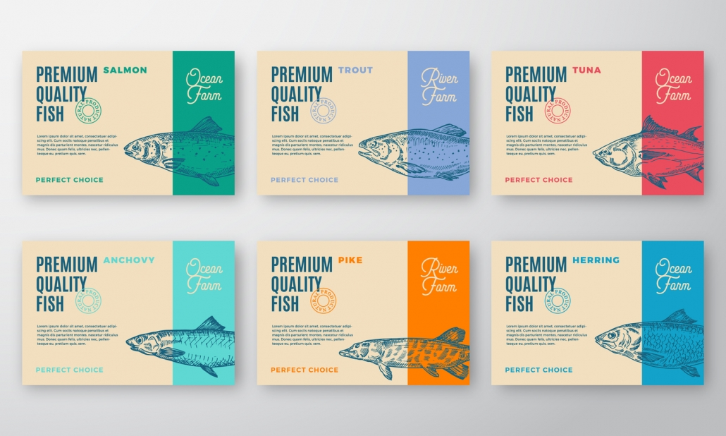 Fish Label Print
