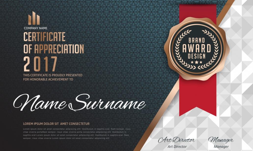 Certificate Template Print