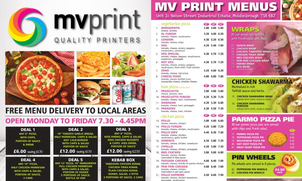 MV Print Menu Template With Price Listings